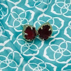 Kendra Scott Tessa Stud Earrings Burgundy Illusion